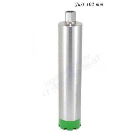 Алмазная коронка по бетону 102 мм Just