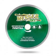 Алмазный диск 180 мм со сплошной кромкой для болгарки (УШМ) по керамической плитке MESSER-DIY