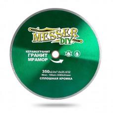 Алмазный диск 350 мм со сплошной кромкой для станка и резчика по керамограниту, граниту и мрамору MESSER-DIY